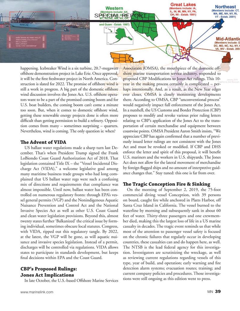 Marine News Magazine, page 39,  Dec 2019