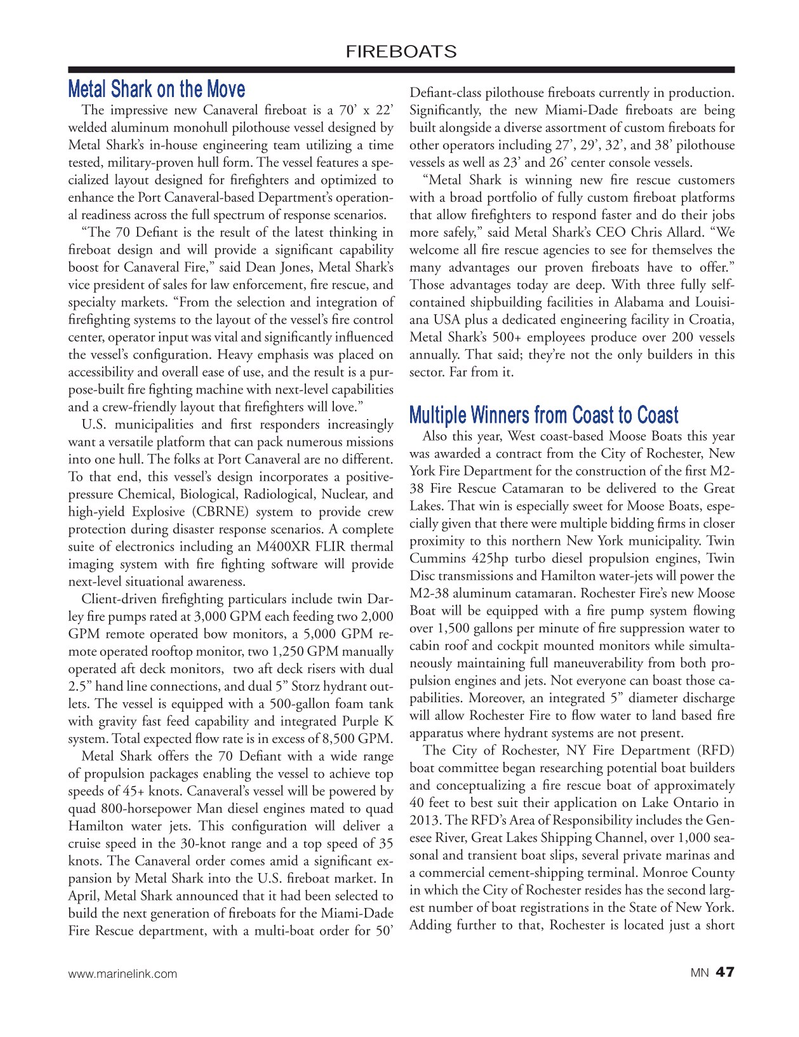 Marine News Magazine, page 47,  Dec 2019
