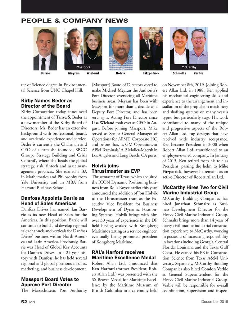 Marine News Magazine, page 52,  Dec 2019