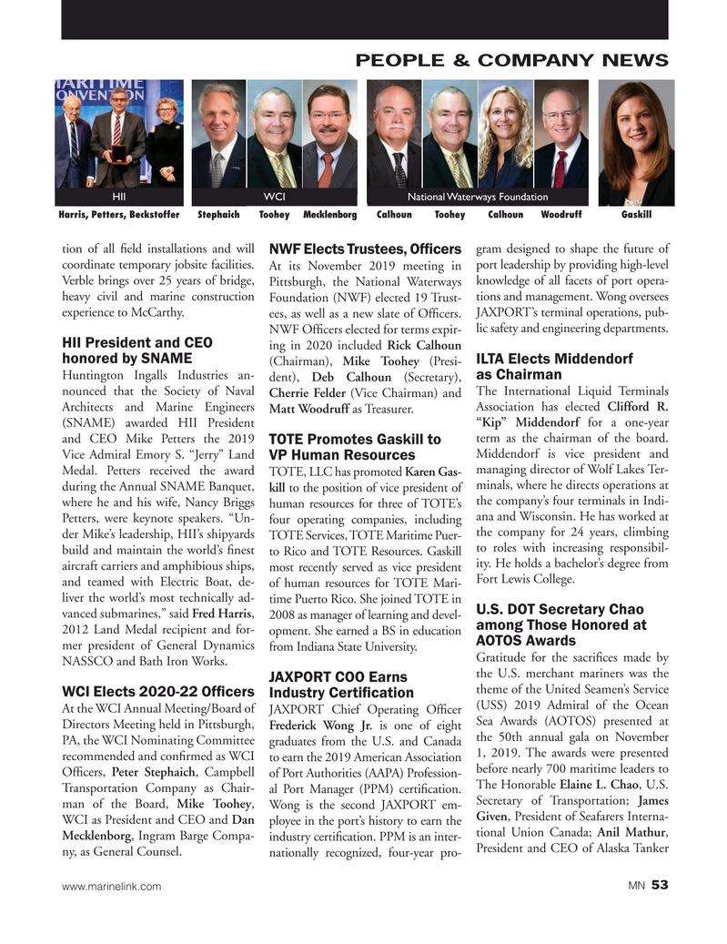Marine News Magazine, page 53,  Dec 2019