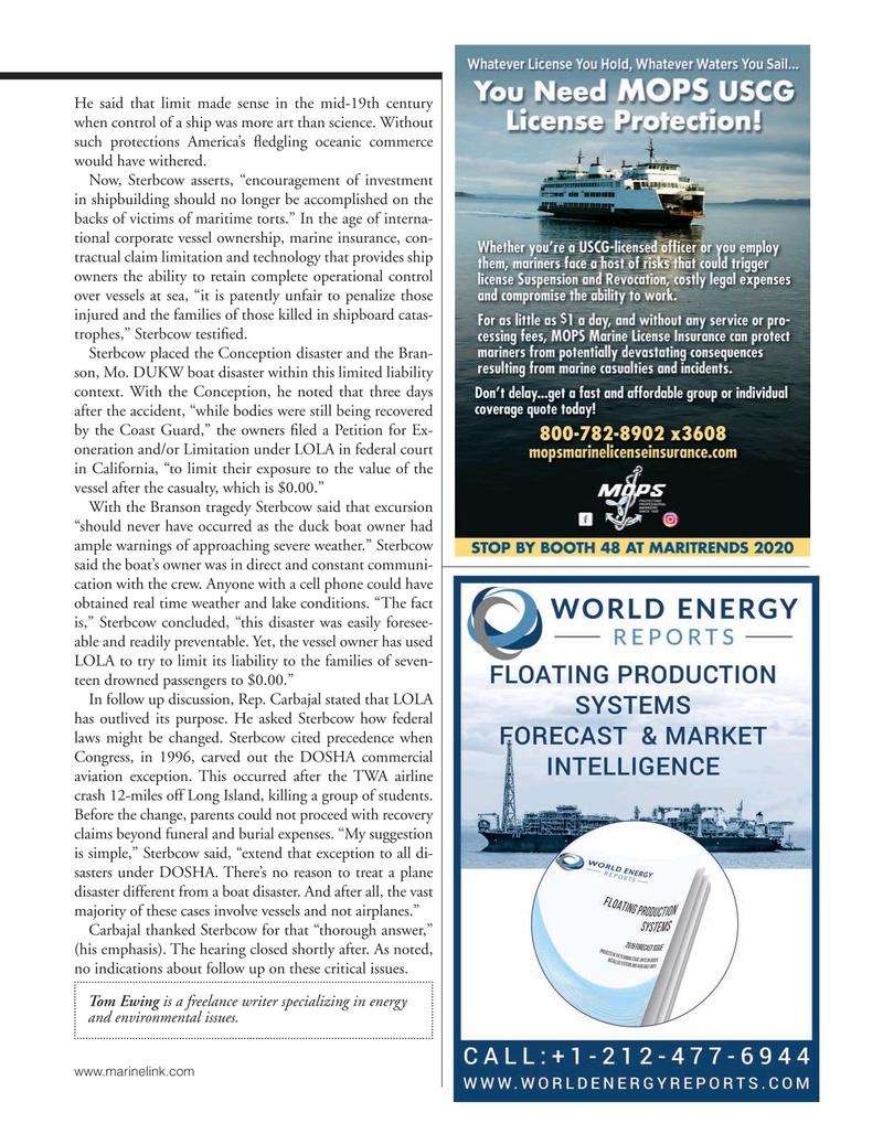 Marine News Magazine, page 27,  Jan 2020