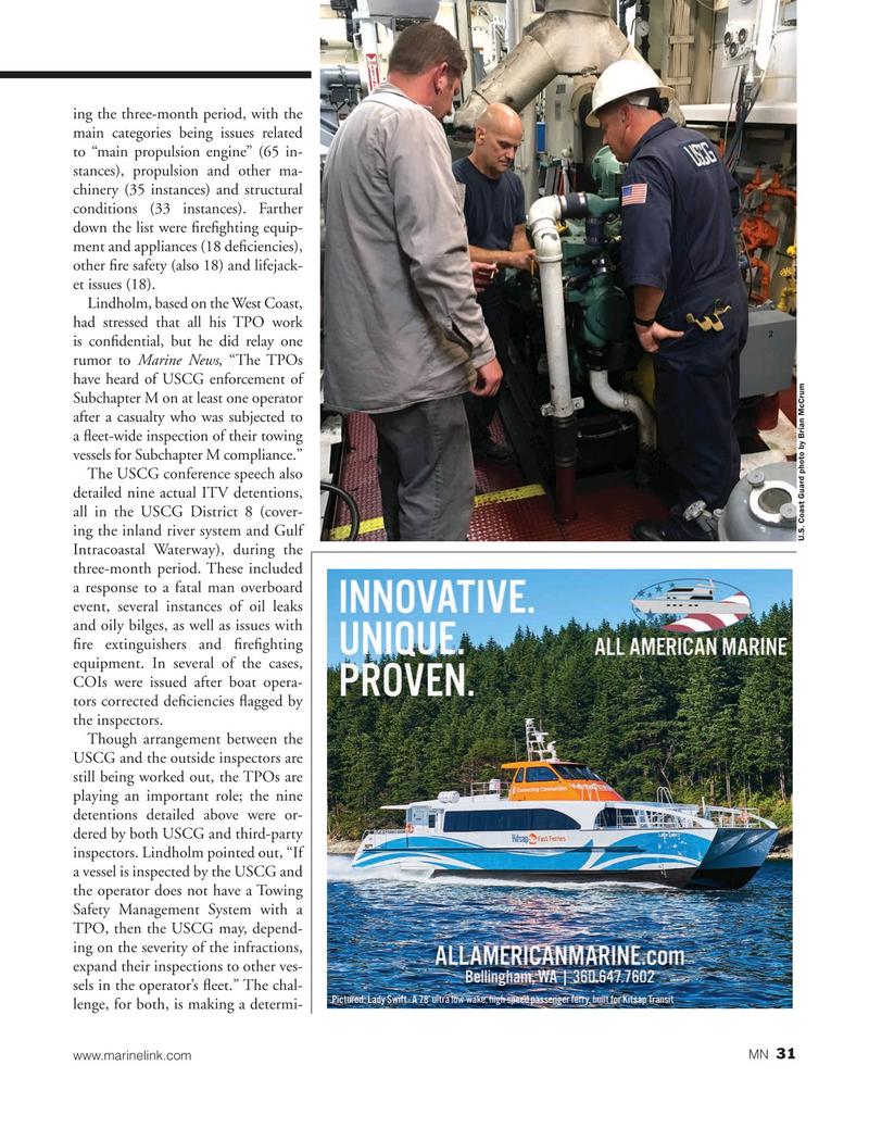 Marine News Magazine, page 31,  Jan 2020