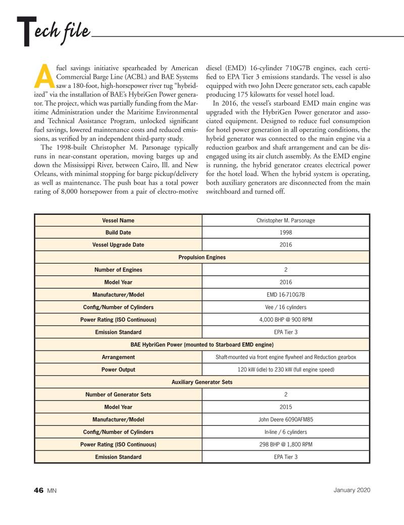Marine News Magazine, page 46,  Jan 2020