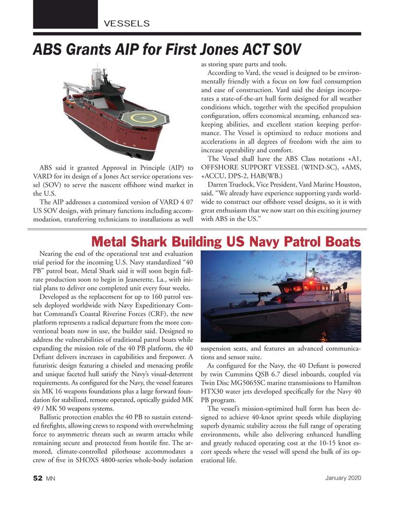 Marine News Magazine, page 52,  Jan 2020