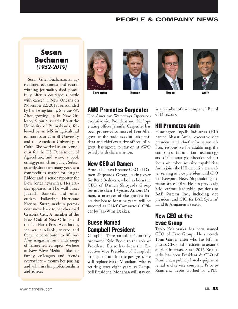 Marine News Magazine, page 53,  Jan 2020