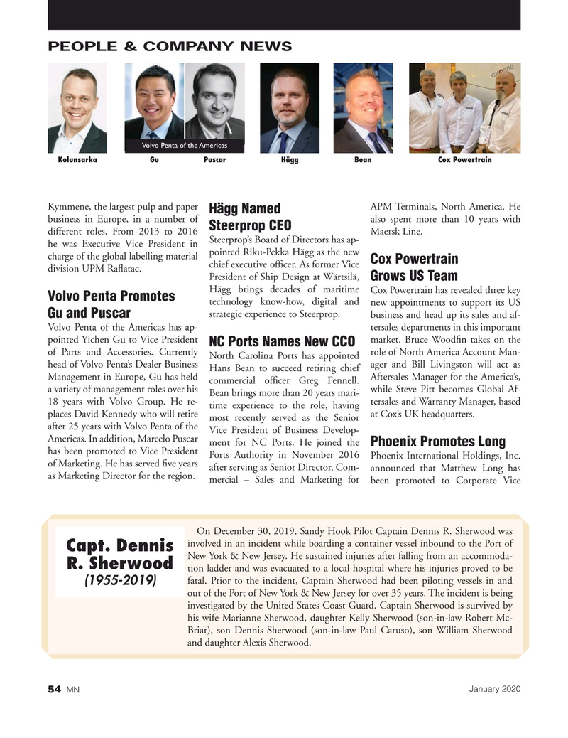Marine News Magazine, page 54,  Jan 2020