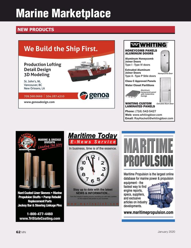 Marine News Magazine, page 62,  Jan 2020