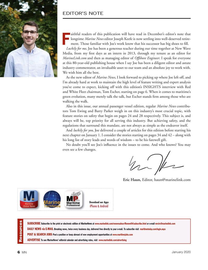 Marine News Magazine, page 6,  Jan 2020