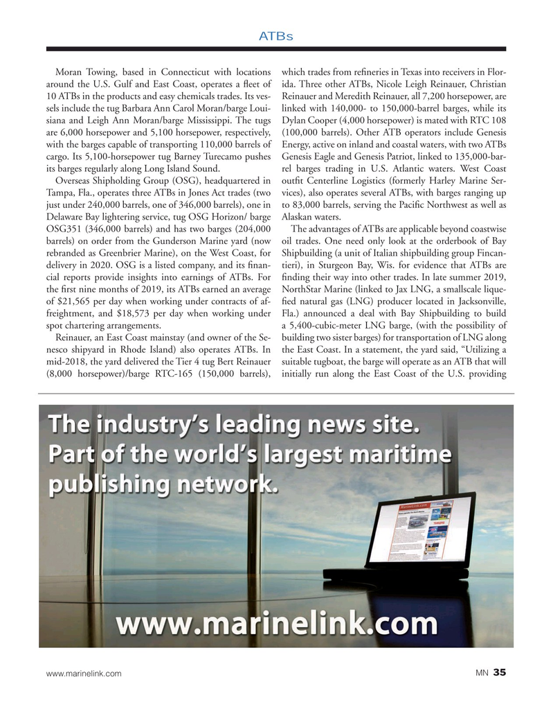 Marine News Magazine, page 35,  Feb 2020