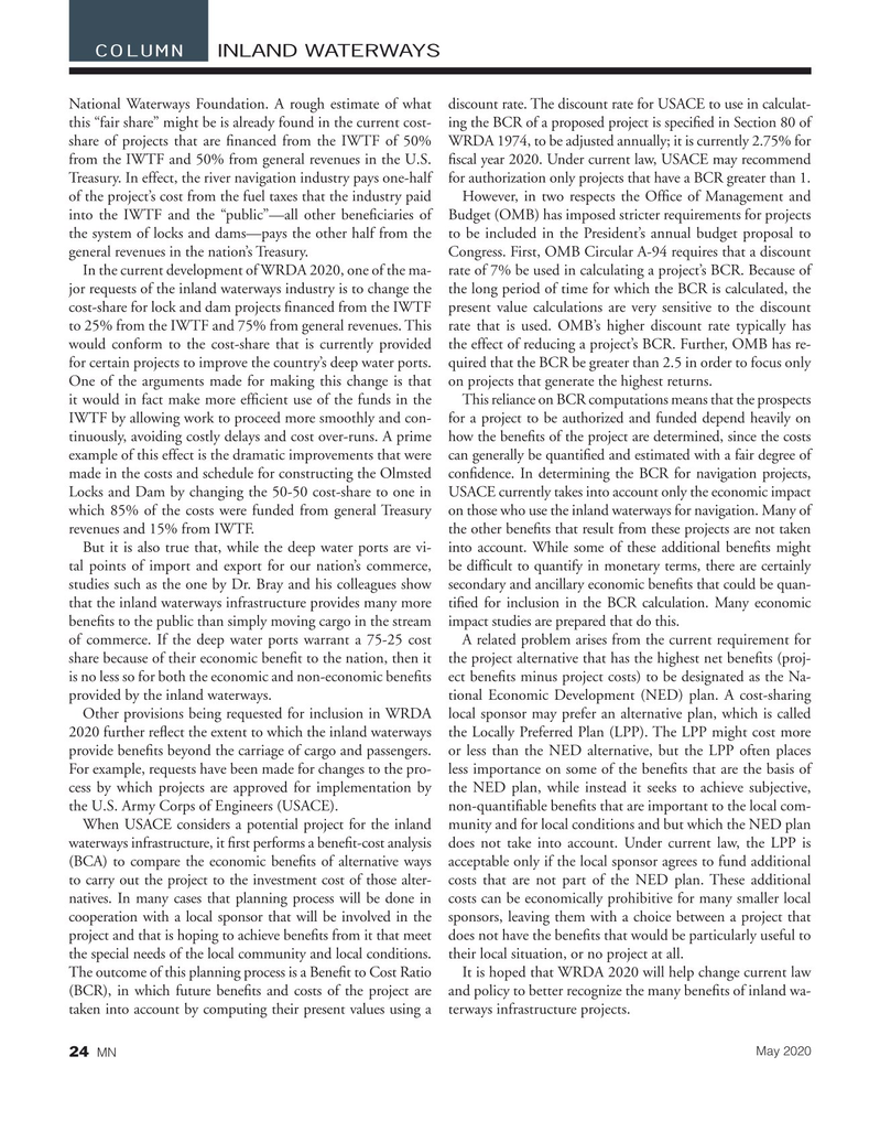 Marine News Magazine, page 24,  May 2020