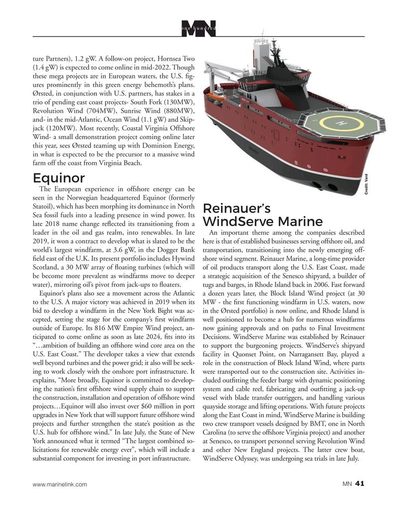 Marine News Magazine, page 41,  Aug 2020