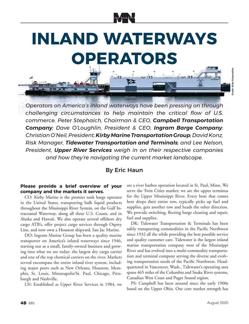 Marine News Magazine, page 48,  Aug 2020