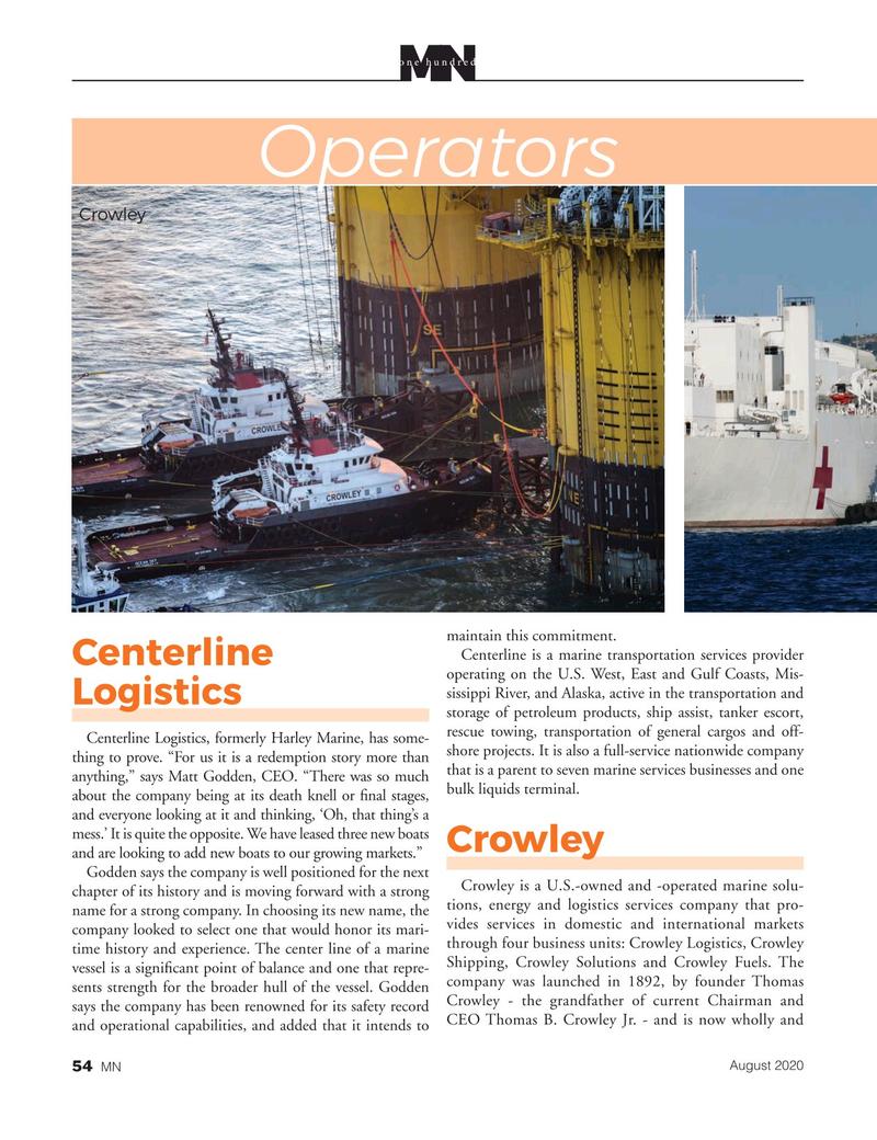 Marine News Magazine, page 54,  Aug 2020