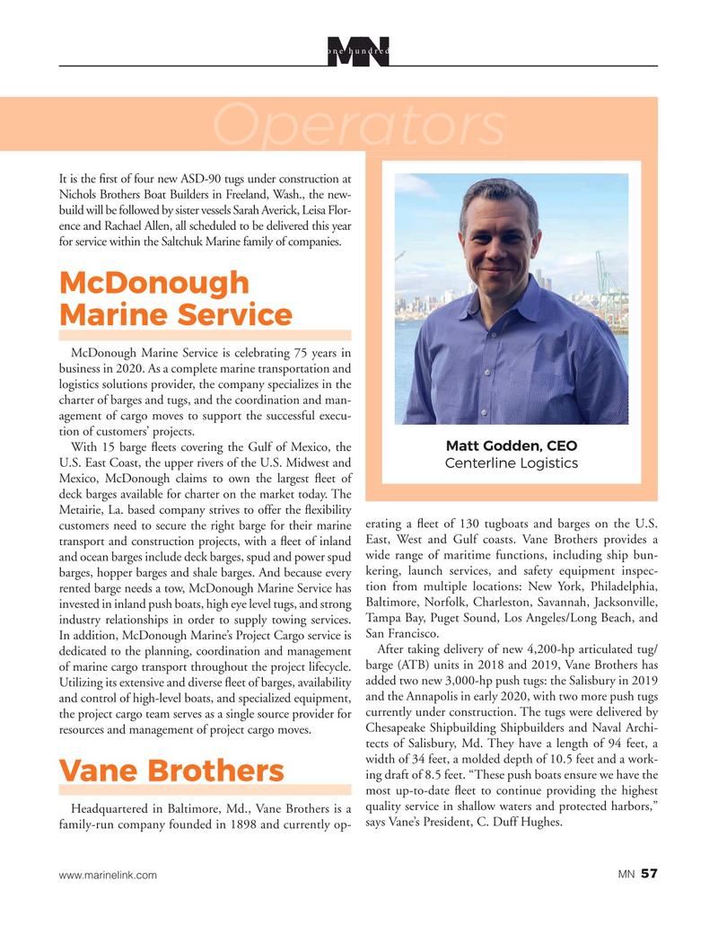 Marine News Magazine, page 57,  Aug 2020