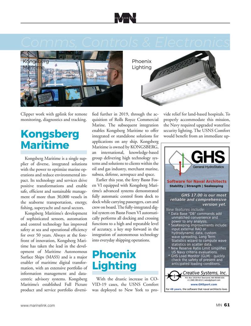 Marine News Magazine, page 61,  Aug 2020
