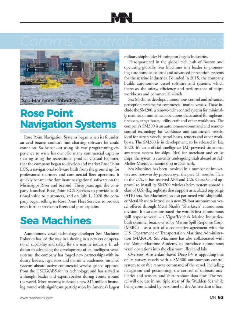 Marine News Magazine, page 63,  Aug 2020