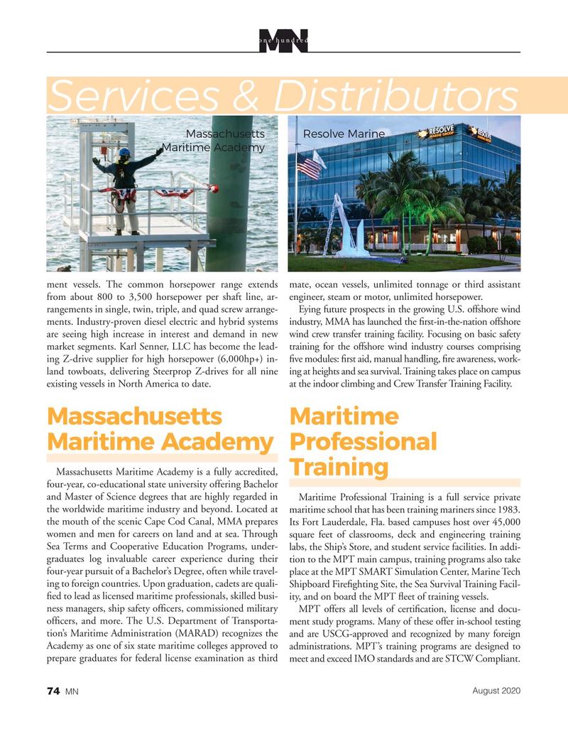 Marine News Magazine, page 74,  Aug 2020