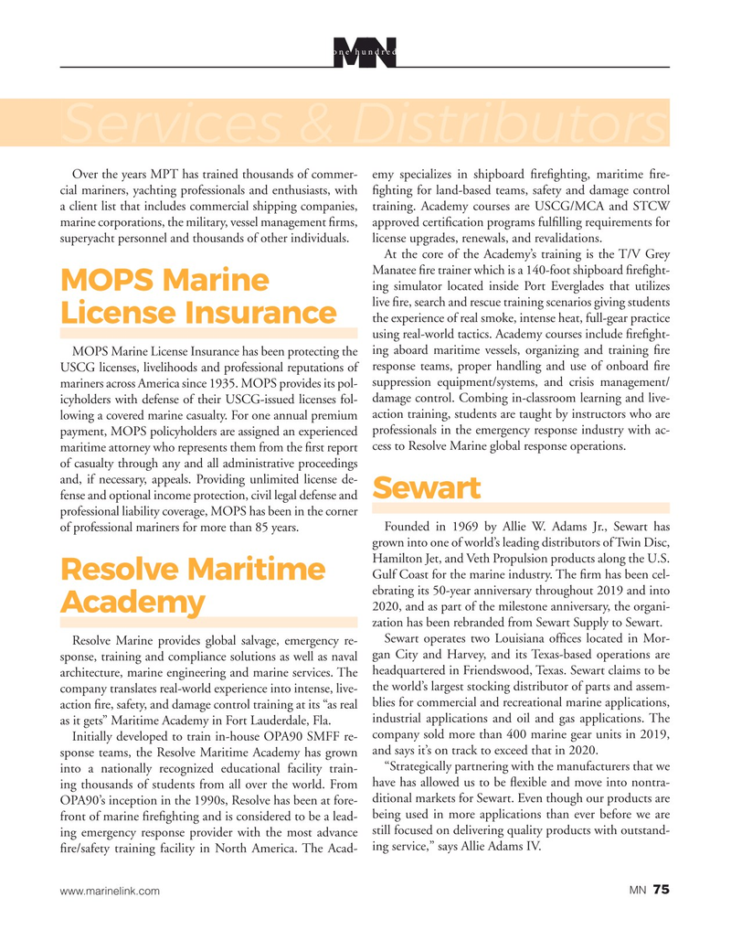 Marine News Magazine, page 75,  Aug 2020