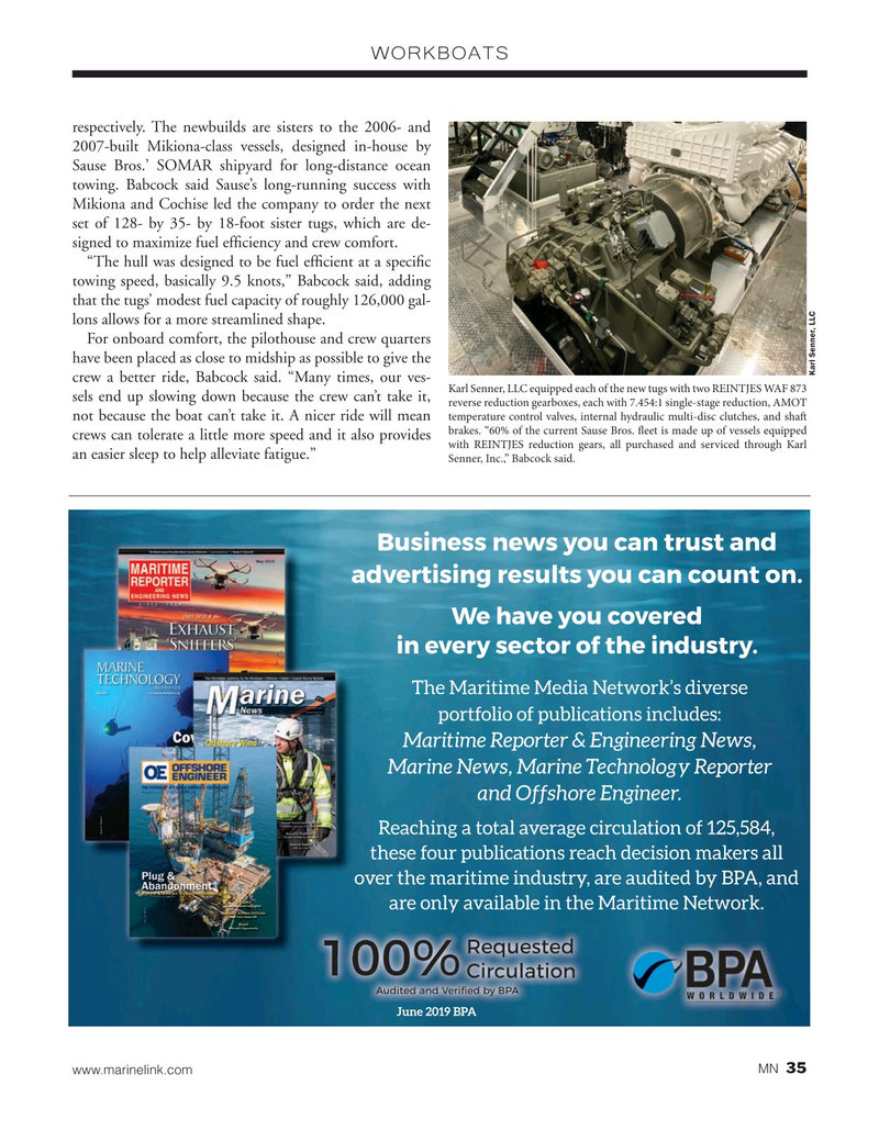 Marine News Magazine, page 35,  Nov 2020