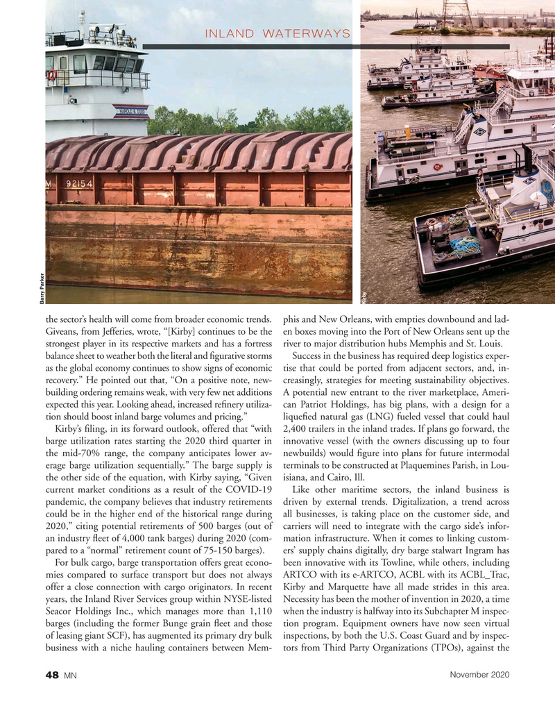 Marine News Magazine, page 48,  Nov 2020