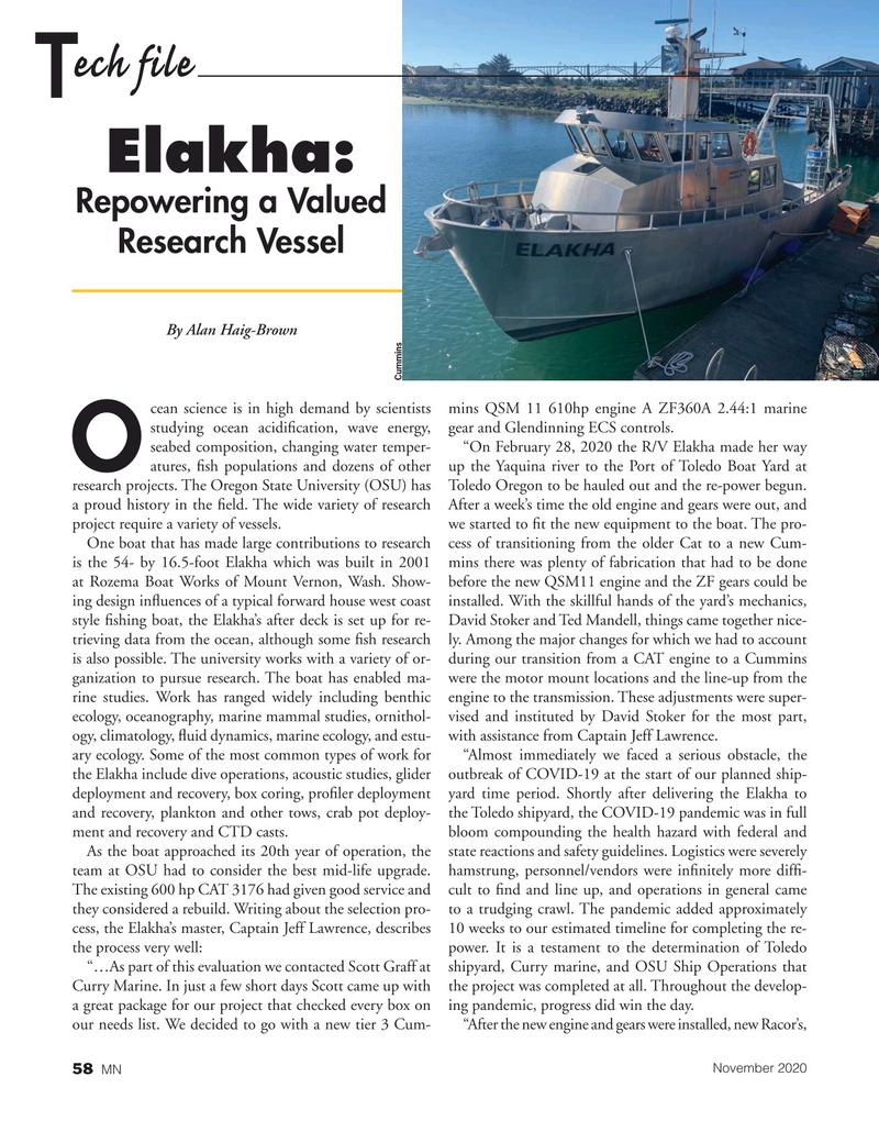 Marine News Magazine, page 58,  Nov 2020