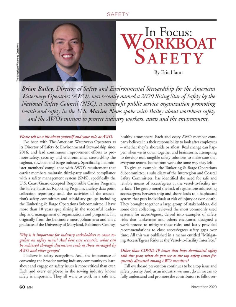 Marine News Magazine, page 60,  Nov 2020
