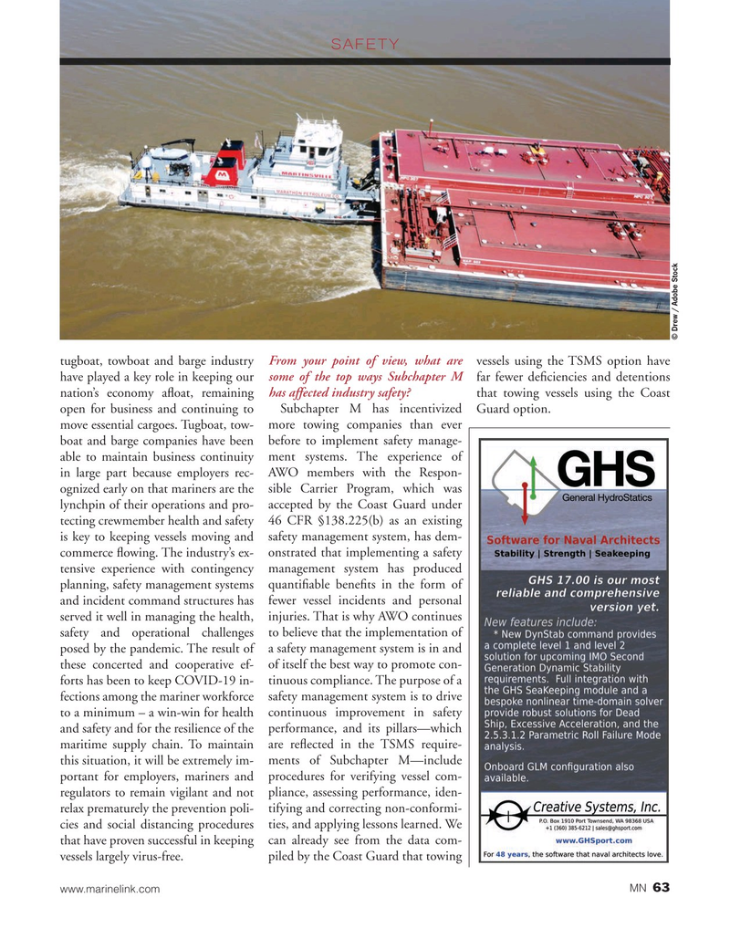 Marine News Magazine, page 63,  Nov 2020