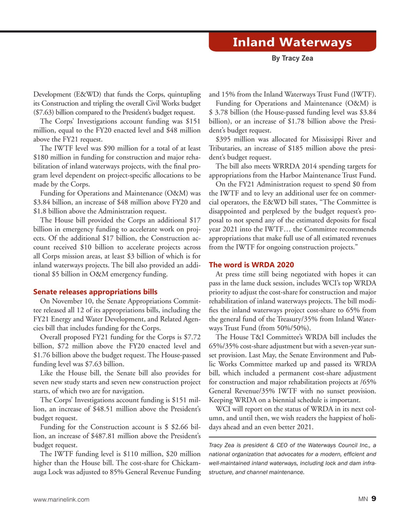 Marine News Magazine, page 9,  Dec 2020