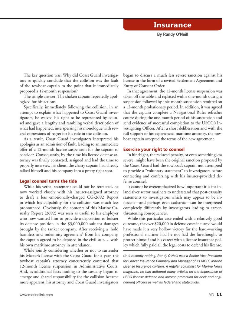 Marine News Magazine, page 11,  Dec 2020
