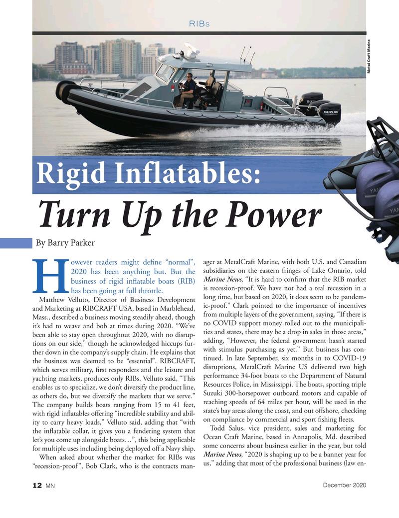 Marine News Magazine, page 12,  Dec 2020