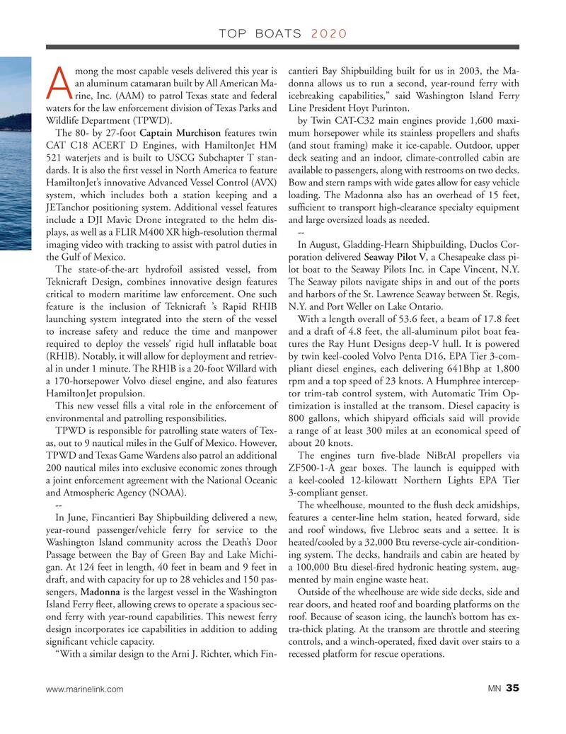 Marine News Magazine, page 35,  Dec 2020