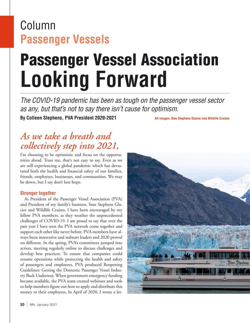 Marine News Magazine, page 20,  Jan 2021