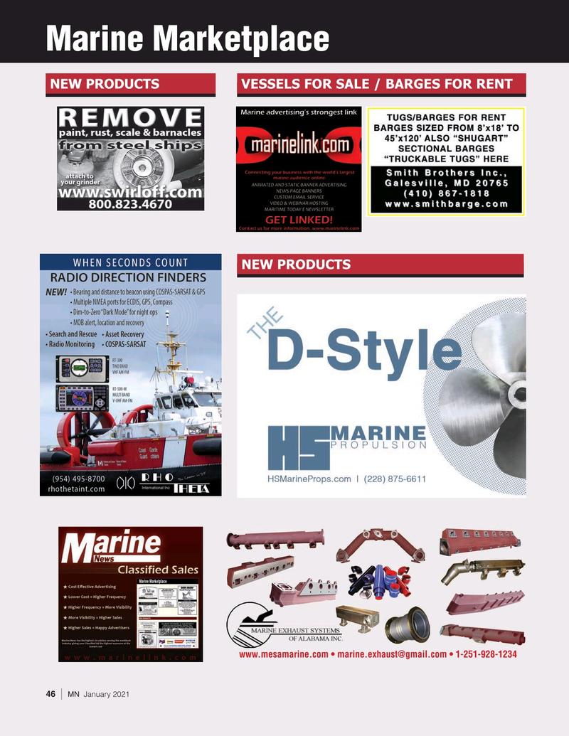 Marine News Magazine, page 46,  Jan 2021