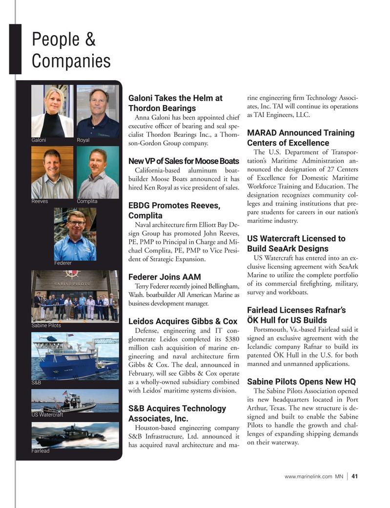 Marine News Magazine, page 41,  Jun 2021