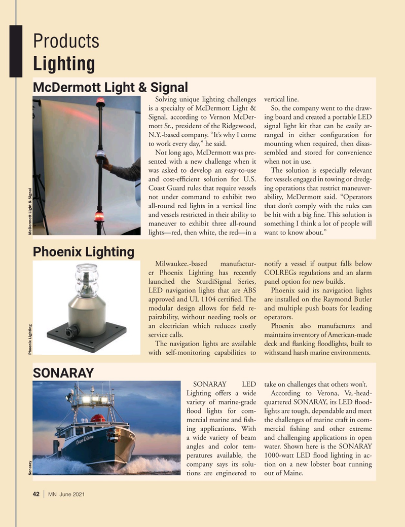 Marine News Magazine, page 42,  Jun 2021