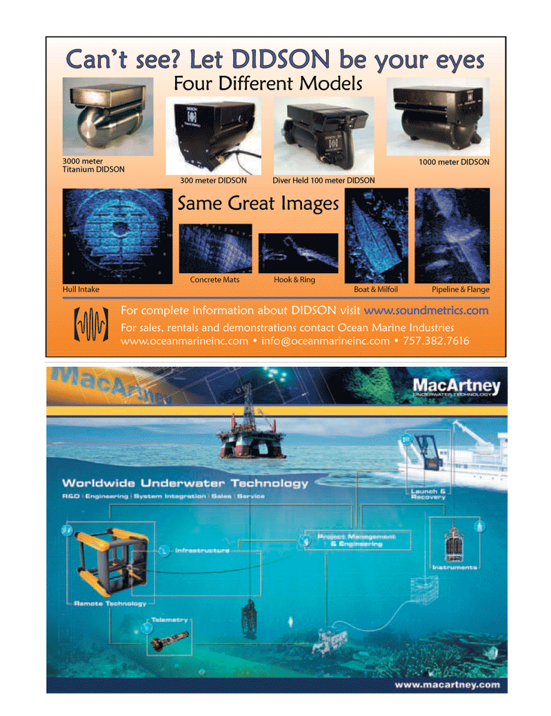 Marine Technology Magazine, page 15,  Apr 2005 Ocean Marine Industries