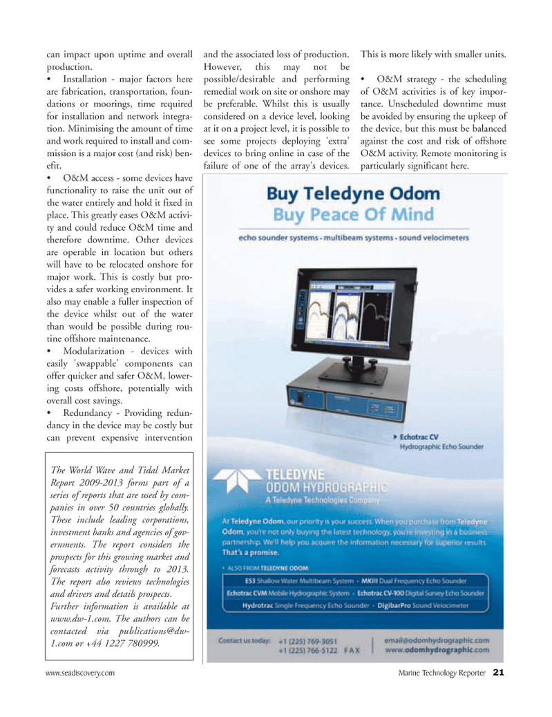 Marine Technology Magazine, page 21,  Apr 2005 transportation