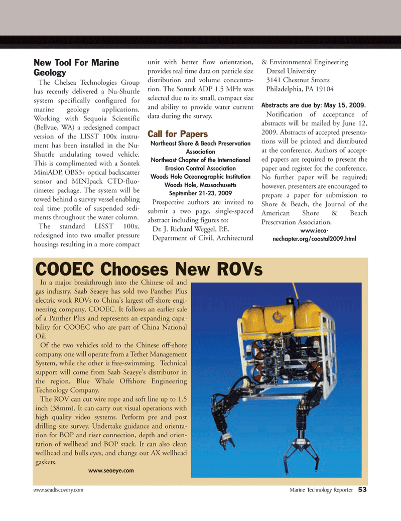 Marine Technology Magazine, page 53,  Apr 2005 Massachusetts