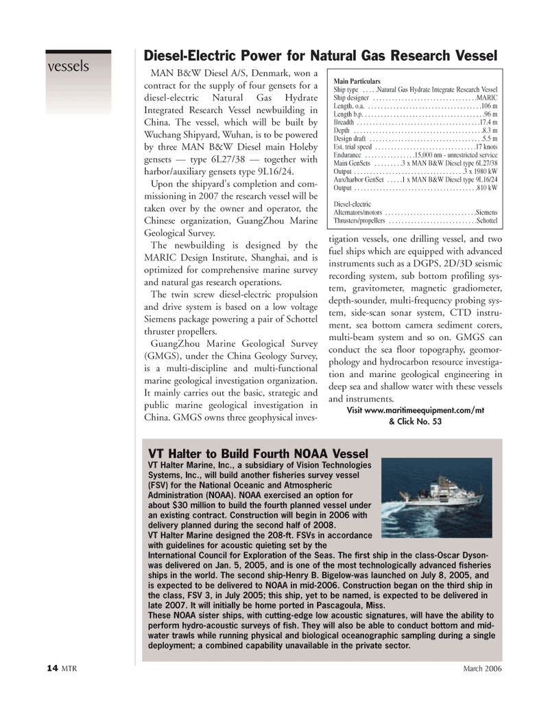 Marine Technology Magazine, page 13,  Mar 2006 Henry B. Bigelow-was