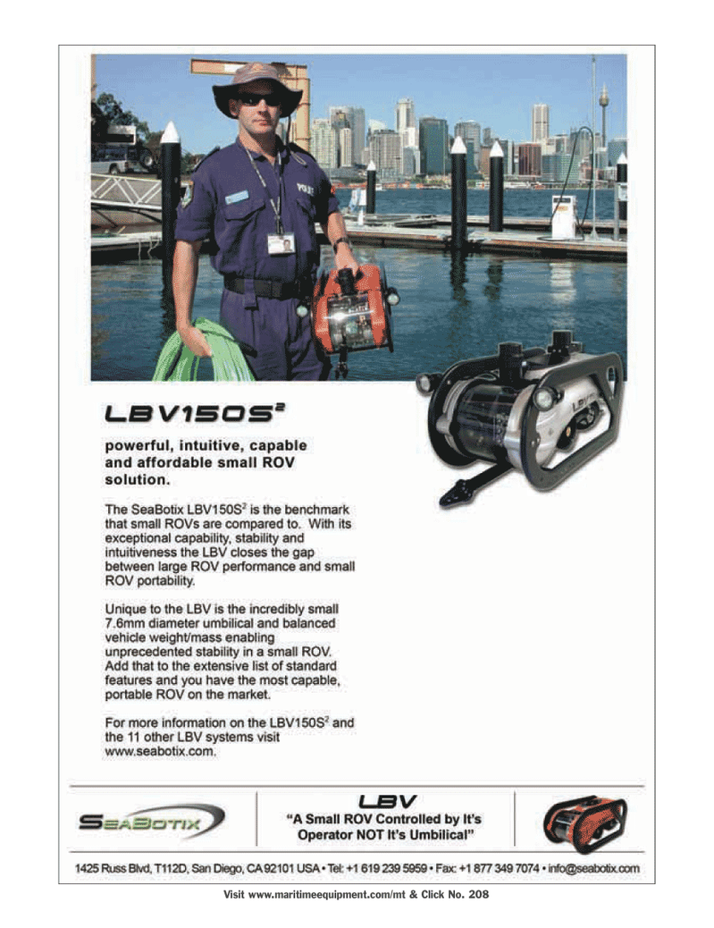 Marine Technology Magazine, page 2nd Cover,  Mar 2006