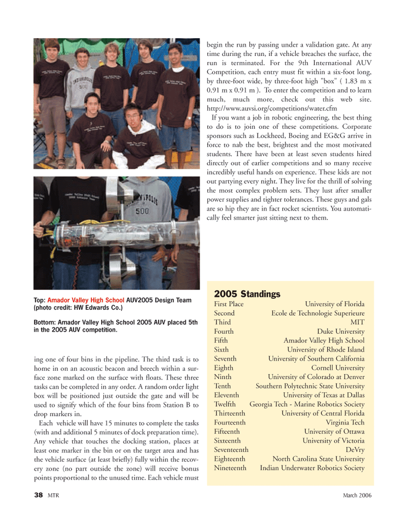 Marine Technology Magazine, page 37,  Mar 2006 Victoria