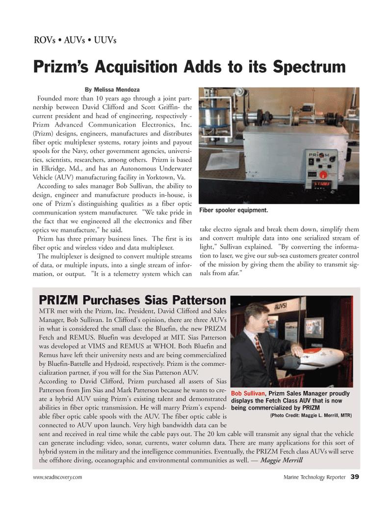 Marine Technology Magazine, page 38,  Mar 2006 Maryland