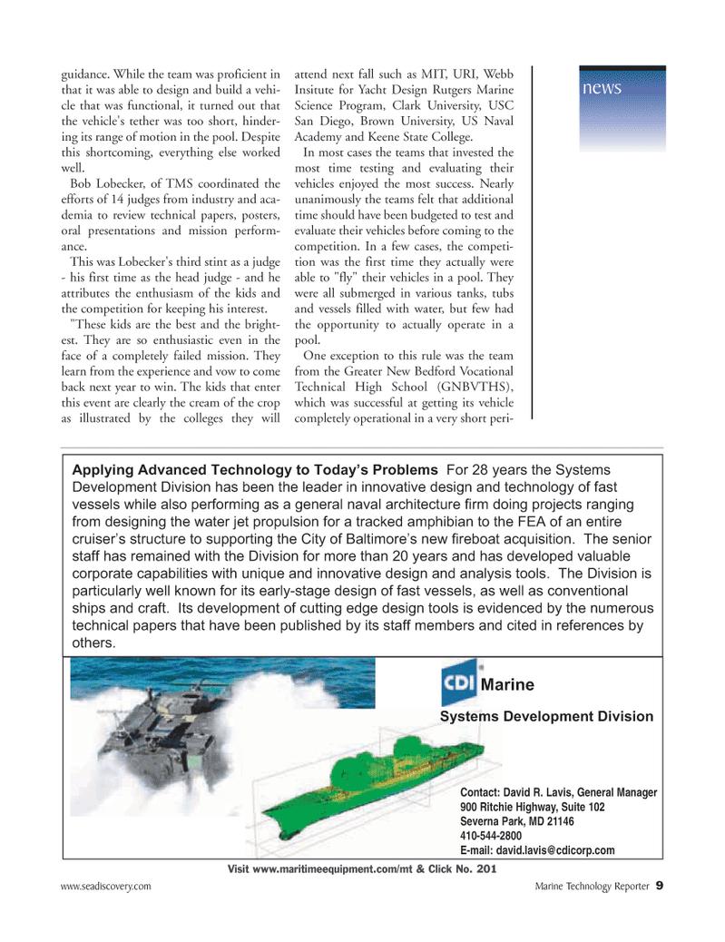Marine Technology Magazine, page 9,  Jun 2006