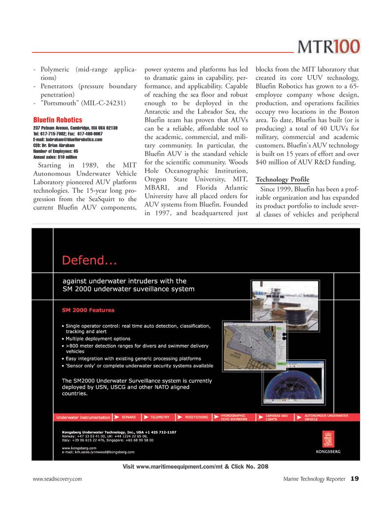 Marine Technology Magazine, page 19,  Jun 2006