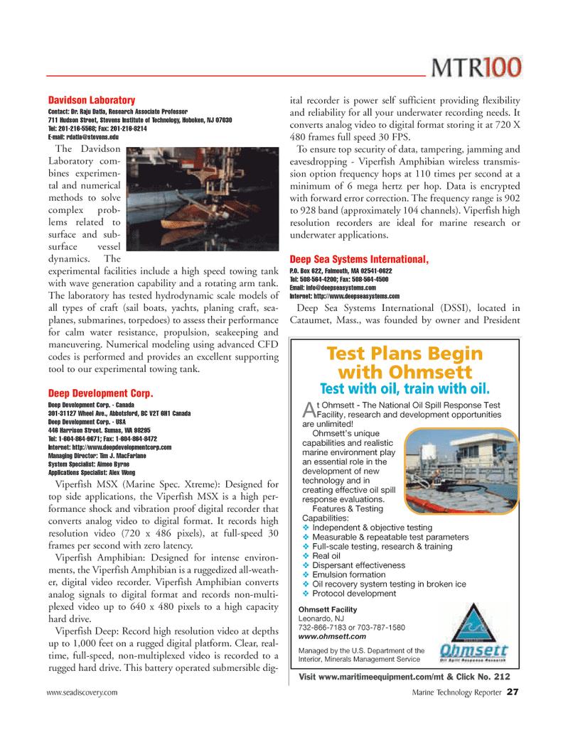 Marine Technology Magazine, page 27,  Jun 2006