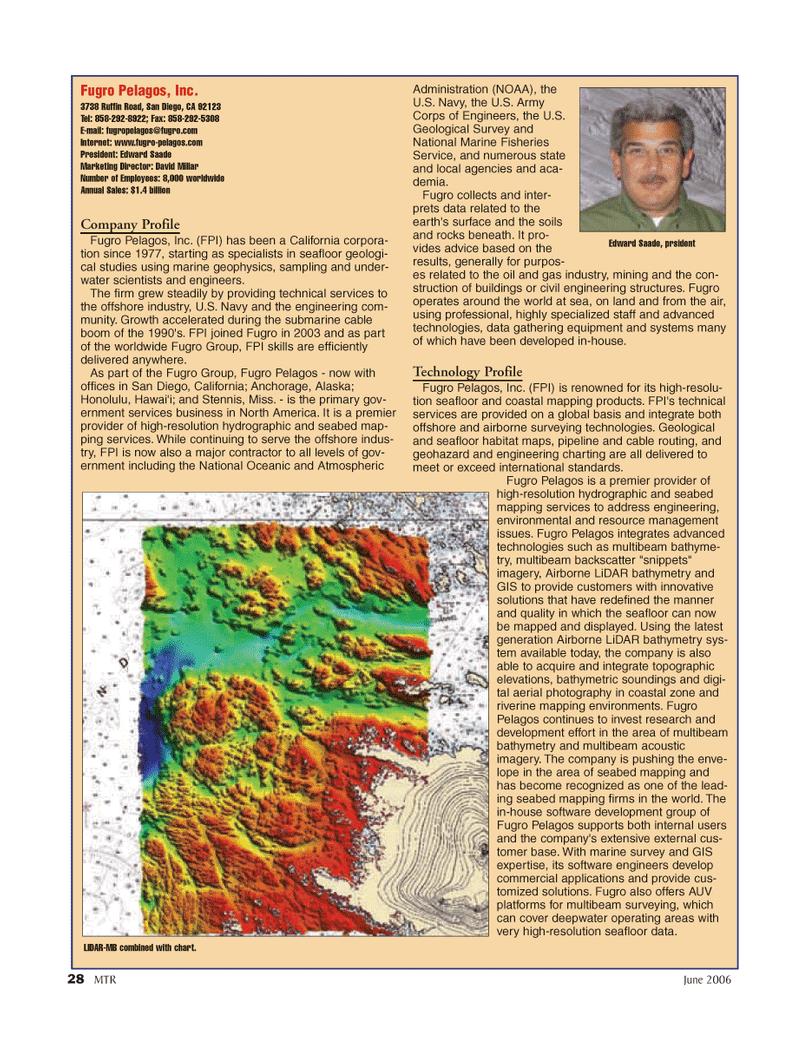 Marine Technology Magazine, page 28,  Jun 2006