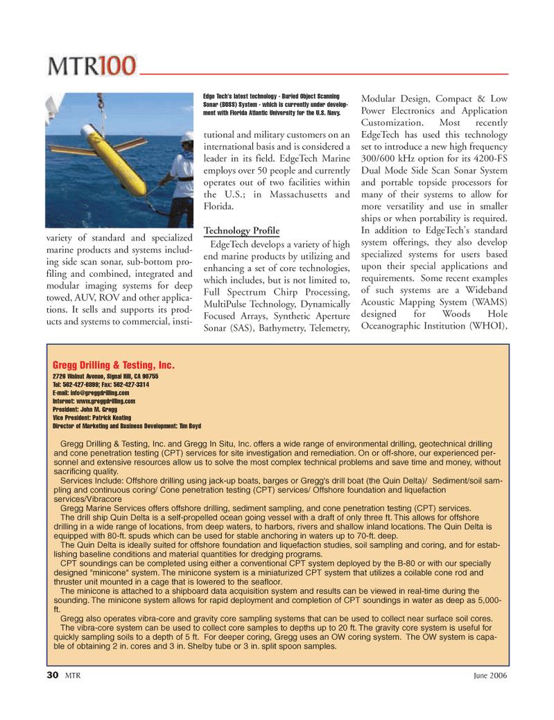 Marine Technology Magazine, page 30,  Jun 2006