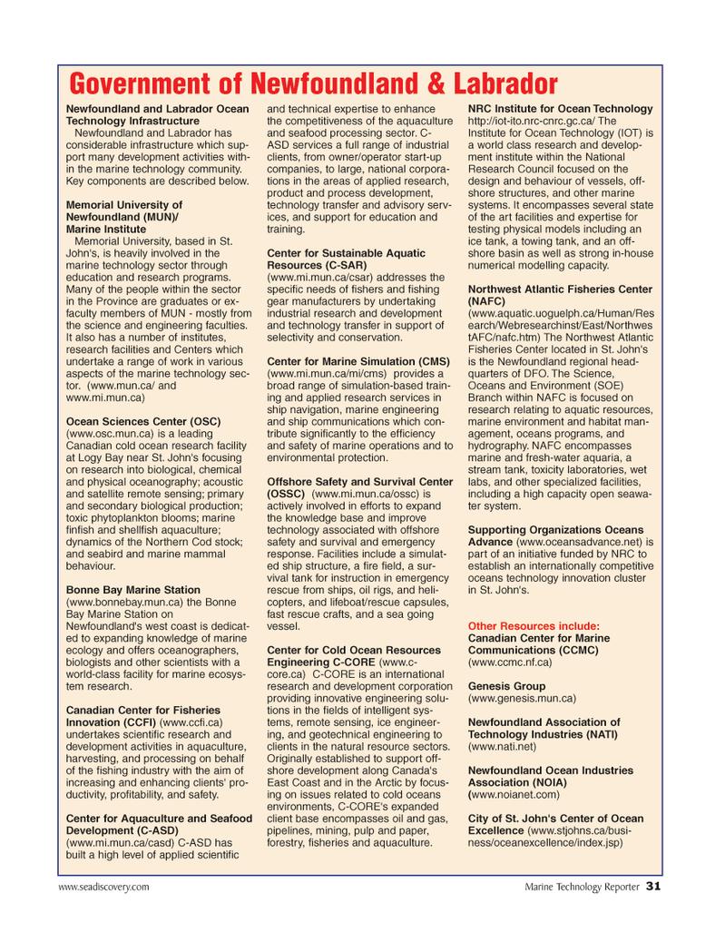Marine Technology Magazine, page 31,  Jun 2006