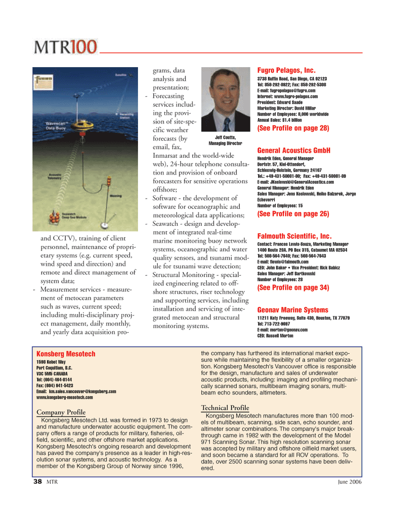 Marine Technology Magazine, page 38,  Jun 2006