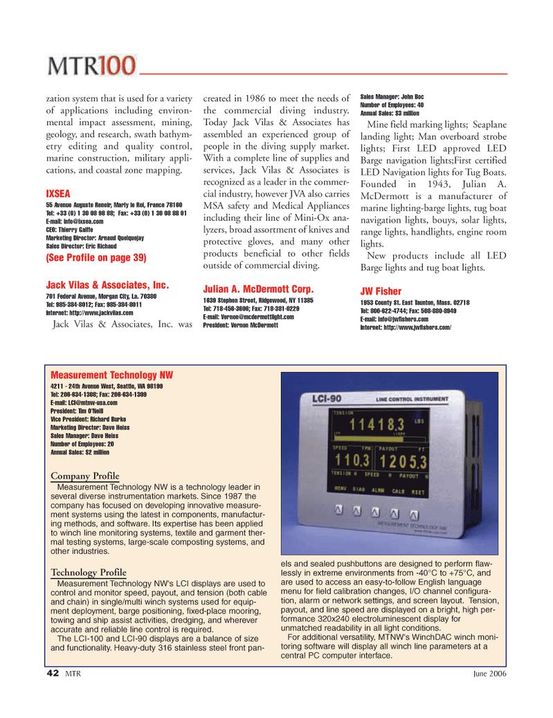 Marine Technology Magazine, page 42,  Jun 2006